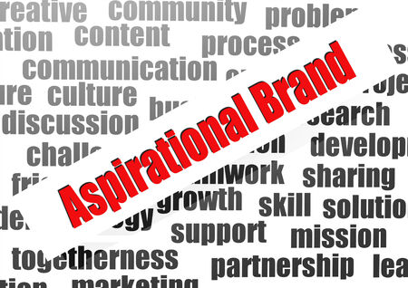 aspirational: Aspirational brand word cloud