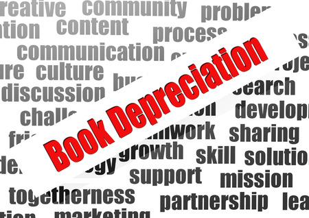 depreciation: Book depreciation word cloud