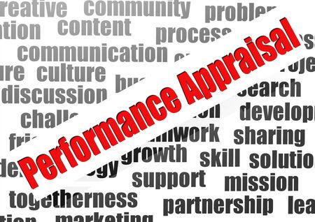 performance appraisal: Performance appraisal word cloud Stock Photo