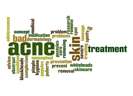 Acne word cloud photo
