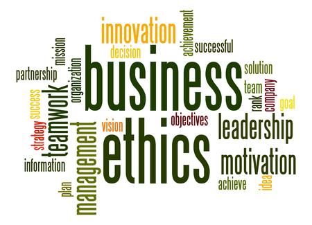etica empresarial: La �tica empresarial nube de la palabra Foto de archivo