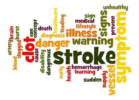 terminology: Stroke word cloud Stock Photo