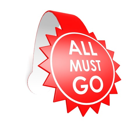 ollection: All must go star label Stock Photo
