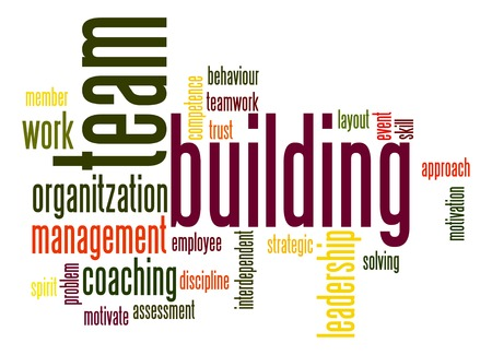 word collage: Team building word cloud