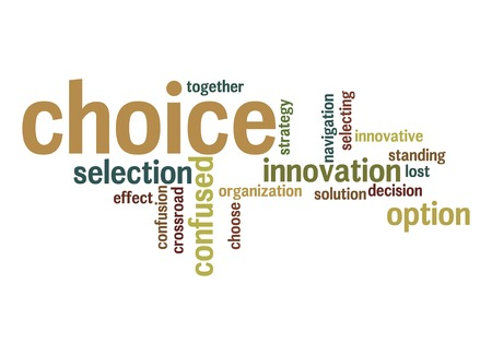 Choice word cloud photo