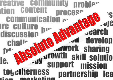 absolute: Absolute advantage word cloud Stock Photo