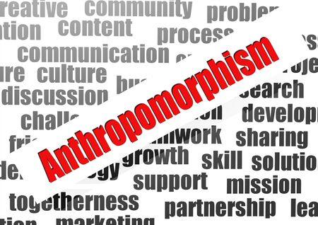 anthropomorphism: Anthropomorphism word cloud Stock Photo