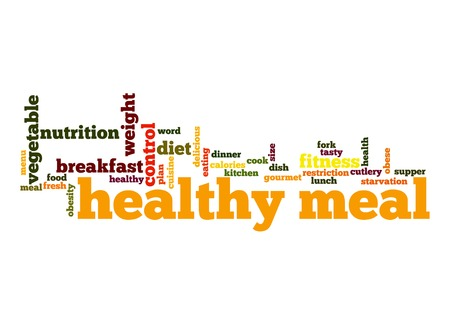 Healthy meal word cloud photo