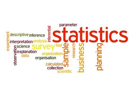 applied: Statistics word cloud Stock Photo