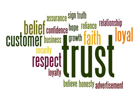 Trust word cloud photo