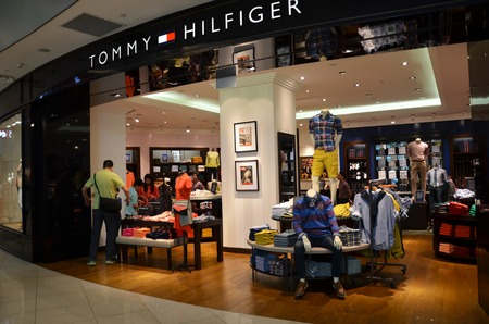 tommy: Tommy Hilfiger shop in Singapore Editorial