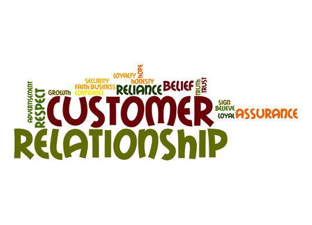 Customer relationship word cloud photo