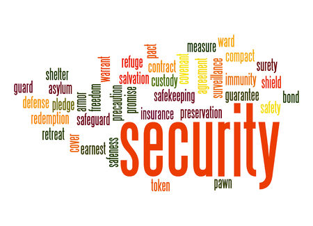 cyber defence: Security word cloud