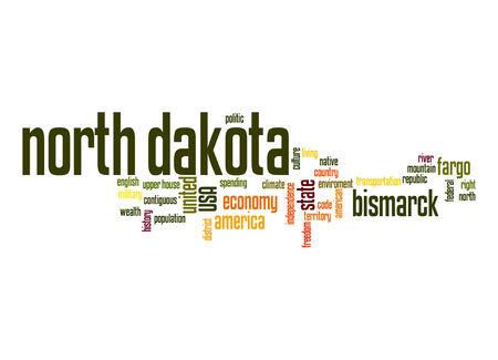 dakota: North Dakota word cloud Stock Photo