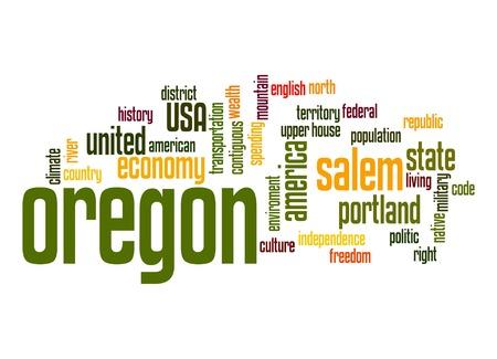 Oregon word cloud