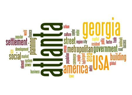 united stated: Atlanta word cloud