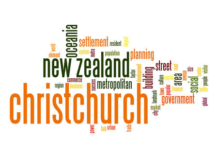 new zealand word: Christchurch word cloud