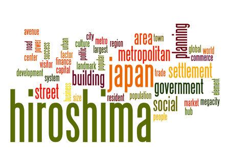 hiroshima: Hiroshima word cloud Stock Photo