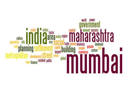 mumbai: Mumbai word cloud Stock Photo