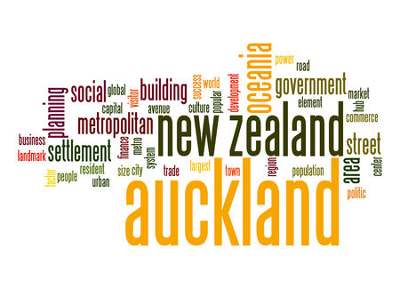 new zealand word: Auckland word cloud