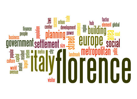 florence: Florence word cloud Stock Photo