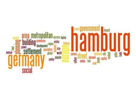 hamburg: Hamburg word cloud Stock Photo