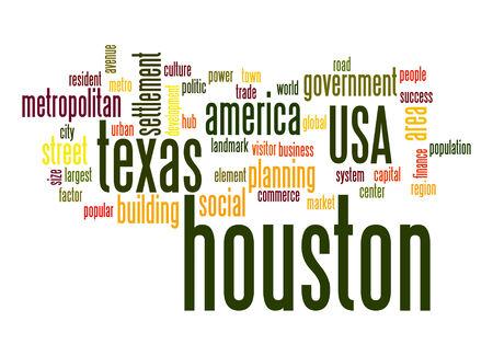 resident: Houston word cloud