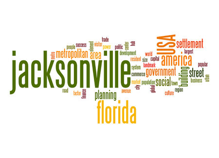 jacksonville: Jacksonville word cloud Stock Photo