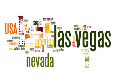 las vegas metropolitan area: Las Vegas word cloud Stock Photo