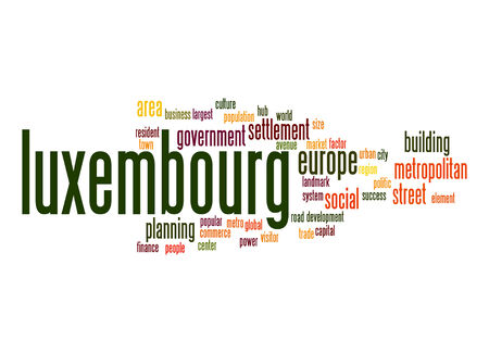 luxembourg: Luxembourg word cloud Stock Photo
