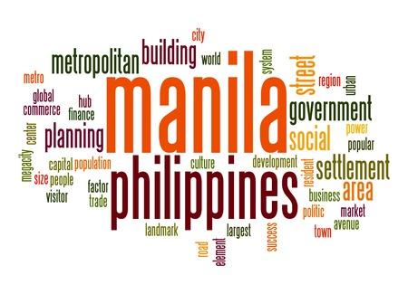 manila: Manila word cloud Stock Photo