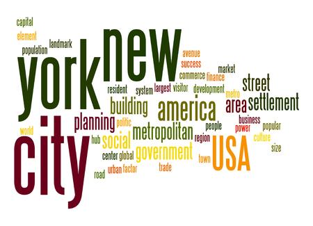 resident: New York City word cloud Stock Photo