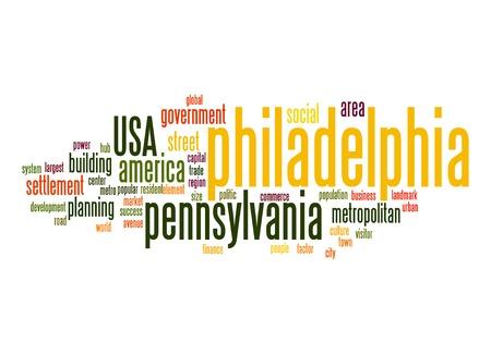 uniting: Philadelphia word cloud Stock Photo