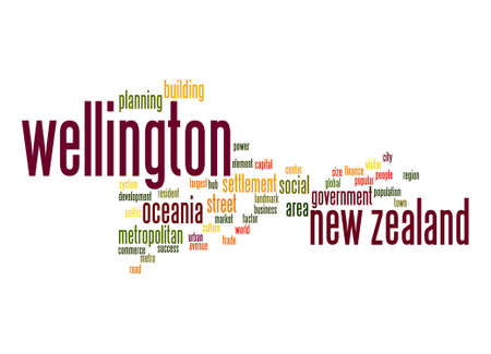 new zealand word: Wellington word cloud