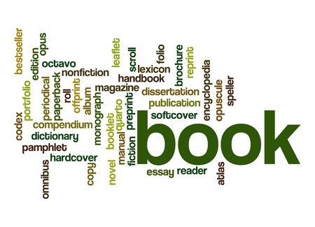 Book word cloud photo