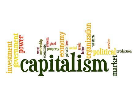 labor market: Capitalism word cloud