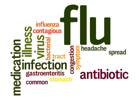 contagious: Flu word cloud Stock Photo