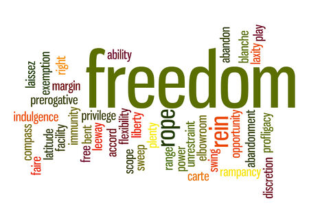 Freedom word cloud Stock Photo
