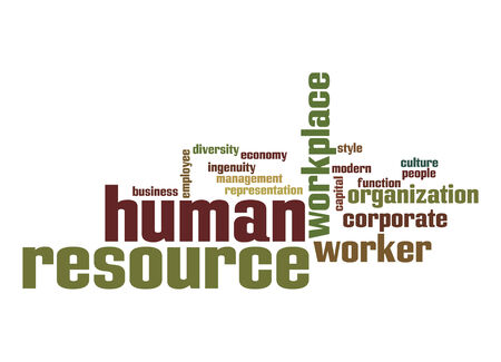 Human resource word cloud photo