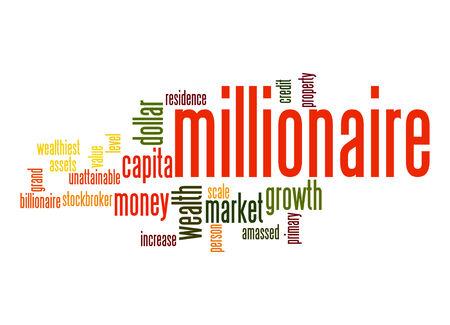 stockbroker: Millionaire word cloud