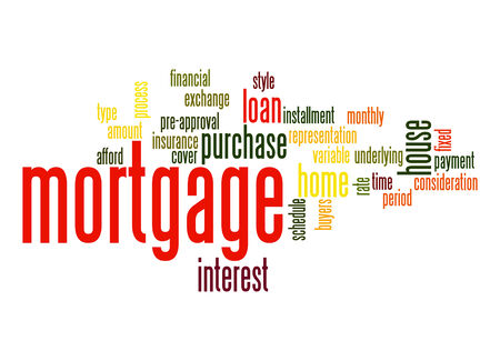 variable rate: Mortgage word cloud Stock Photo