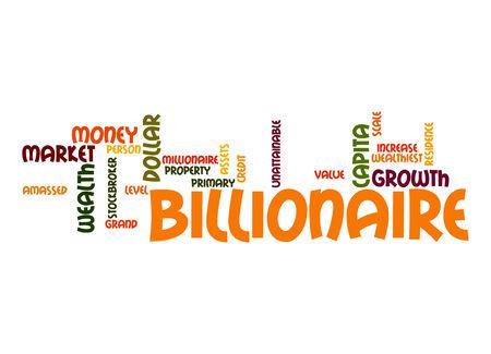capita: Billionaire word cloud