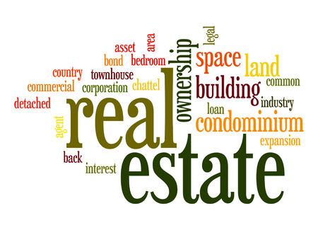 Real estate word cloud photo