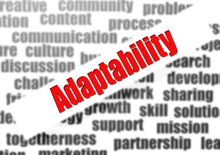 Adaptability word cloud Stock Photo