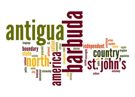 barbuda: Antigua and Barbuda word cloud