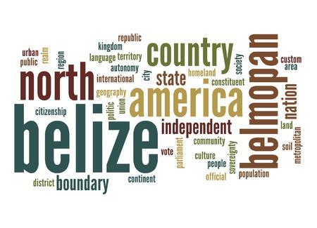 belize: Belize word cloud Stock Photo
