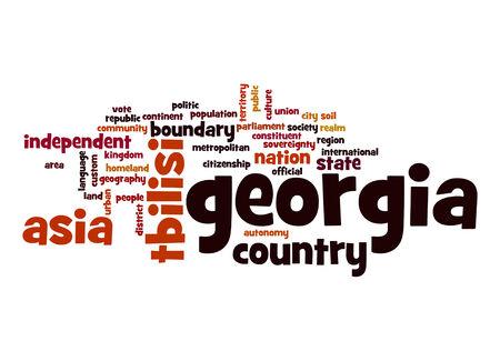 georgia: Georgia word cloud Stock Photo