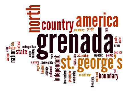 grenada: Grenada word cloud Stock Photo
