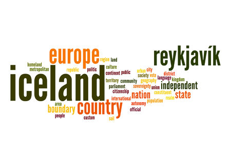 Iceland word cloud Stock Photo