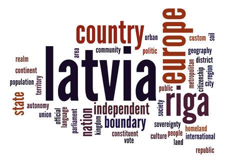 latvia: Latvia word cloud